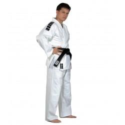 Judo-Gi Entraînement blanc avec rayures aux épaules  AMS - Artmartial-shop.fr