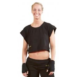 Tee-shirt court Femme Kwon en Noir AMS - Artmartial-shop.fr