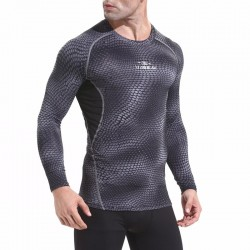 T-shirt de compression hommes séchage rapide respirant à manches longues - AMS